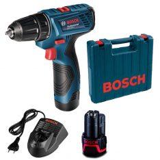 Taladro Con Percutor Bosch Gsb 1200 2 Li Bateria 12 V 10 Mm